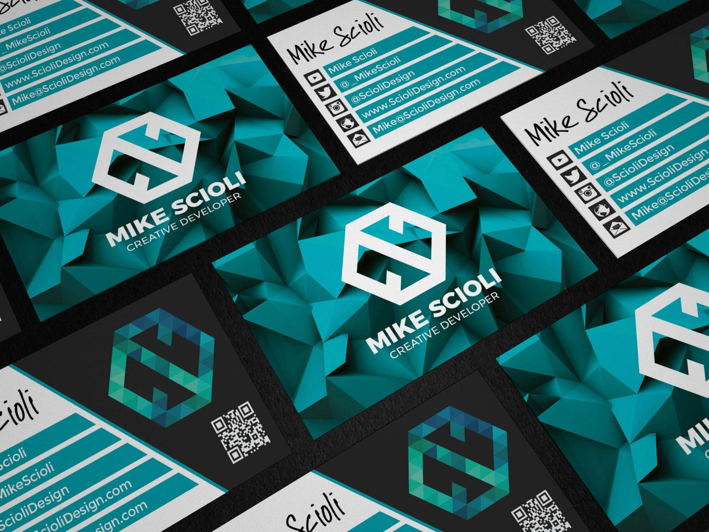 Mike Scioli Business Card Mockup