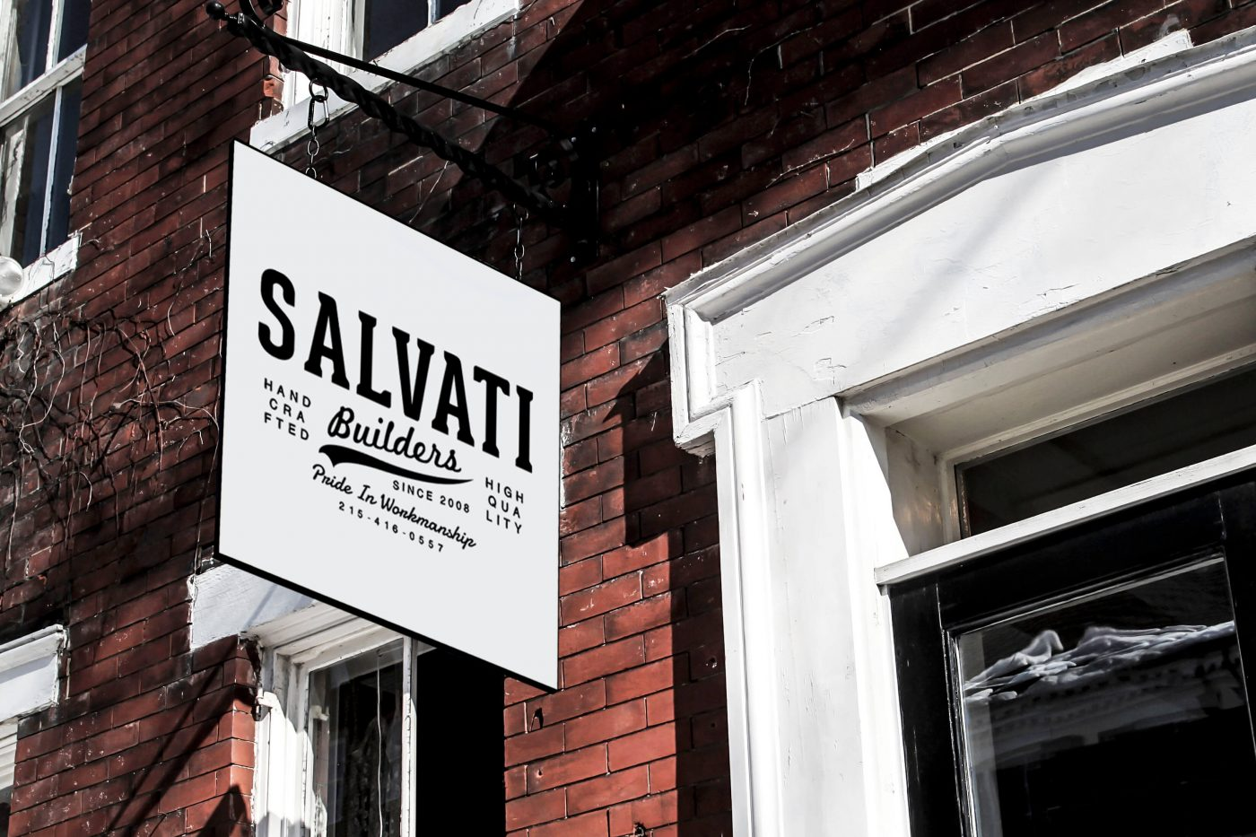 Salvati Builders Sign Mockup