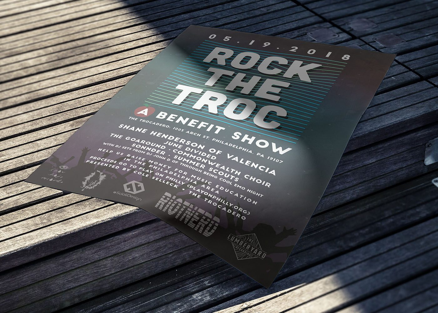 Rock The Troc - Concert Poster Design